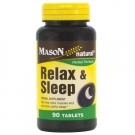 Mason Natural Relax & Sleep Tablets 90ct