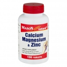 Mason Natural Calcium, Magnesium And Zinc Tablets 100ct