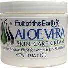 Fruit of the Earth Aloe Vera Skin Care Cream - 4oz Jar