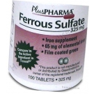 Ferrous Sulfate (325mg) - 100 Tablets
