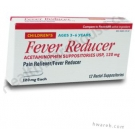Fever Reducer Acetaminophen Suppositories 120mg - 12 Suppositories