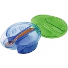 The First Years Take & Toss Sectioned Bowls with Lids, 8oz - 4ct