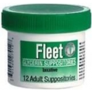 Fleet Glycerin Suppository Adult 12ct