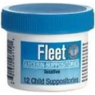 Fleet Glycerin Suppository Child 12ct