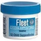 Fleet Glycerin Suppository Child 12ct