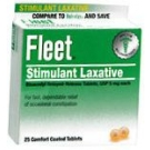 Fleet Bisacodyl 5mg Laxative Tablets 25 ct
