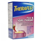 TheraFlu Flu & Sore Throat Powder Apple Cinnamon - 6ct