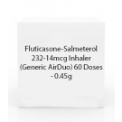 Fluticasone-Salmeterol 232-14mcg Inhaler (Generic AirDuo) 60 Doses  - 0.45g