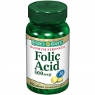 Nature's Bounty Folic Acid Tablets, 800mcg- 250ct