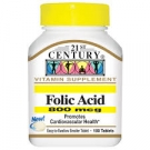 21st Century Folic Acid 800mcg Tablets - 180ct