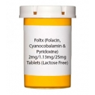Foltx (Folacin, Cyanocobalamin & Pyridoxine) 2mg/1.13mg/25mg  Tablets (Lactose Free)