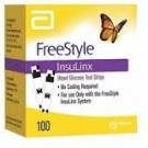FreeStyle Insulinx Blood Glucose Test Strip- 100ct