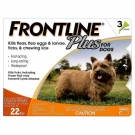Frontline Plus for Dogs (5 to 22 lbs) - 3 Month Pack(Orange)