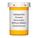 Gabapentin  (Generic Neurontin) 800mg Tablets (Greenstone)