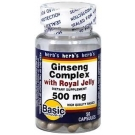 Basic Vitamins Ginseng Complex with Royal Jelly 500 mg Capsules - 50ct