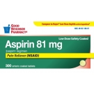 Good Neighbor Pharmacy Aspirin 81 Mg Low Dose Safety Coated Tablets 300ct