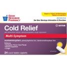 GNP® Daytime Cold Multi-Symptom Acetaminophen Caplets 24ct
