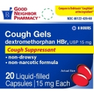 GNP Cough Relief Liquid Filled Capsules, 20ct