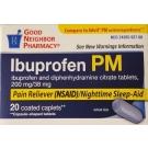 GNP Ibuprofen PM 200mg 20 Caplets