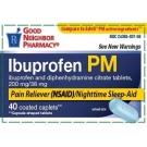 GNP Ibuprofen PM 200mg 40 Caplets