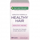 Nature's Bounty Optimal Solutions Healthy Hair Vitamins, Keratin Formula - 60ct