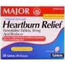 Heartburn Relief (Famotidine 10 mg) Tablets - Box of 30