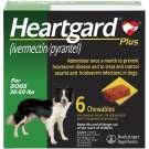 Heartgard Chewables For Dogs 26-50 lbs-6 Count Box (Green)