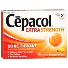 Cepacol Sore Throat Pain Relief Lozenges, Honey Lemon- 16ct
