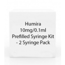 Humira 10mg/0.1ml Prefilled Syringe Kit - 2 Syringe Pack