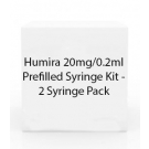 Humira 20mg/0.2ml Prefilled Syringe Kit - 2 Syringe Pack