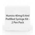 Humira 40mg/0.4ml Prefilled Syringe Kit - 2 Pen Pack