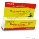 Major Hydrocortisone Cream 1% with Aloe - 1 oz.