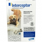 Interceptor Flavor Tabs 23mg (For Dogs 51-100lb & Cats 12.1-25lbs)  6 Month Pack- Limited Quantities Available
