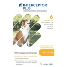 Interceptor Plus For Dogs 25-50lbs- 6 tablet pack (Yellow)