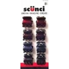 Scünci 3 Prong Jaw Clips, 8ct- 3 Packs