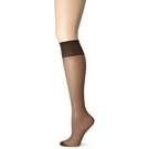 Just My Size Women's Outside Knee Panty Hose, Black, One Size- 4ct