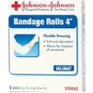 Johnson & Johnson Kling Gauze Bandage Sterile (4 Inch X 2.1 Yards) 5 per Box