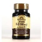 Windmill Vitamin K2 with Vitamin D3 100mg-1000U Tablets - 60ct