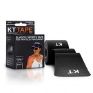 KT TAPE Original Cotton Elastic Kinesiology Theraeputic Tape Black - 20 Pre-Cut 10