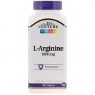 21st Century L-Arginine 1000mg, Maximum Strength Tablets - 100 ct