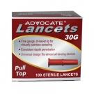 Advocate Pulltop Lancets 30G- 100ct Box