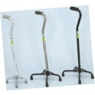 Large Base Quad Cane - Black W1302BL