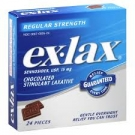 ex-lax Chocolated Stimulant Laxative Regular Strength Chocolate Pieces - 24ct