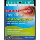 Quantum Health Lip Clear Invisible Cold Sore Bandage - 12ct
