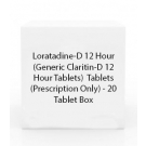 Loratadine-D 12 Hour  (Generic Claritin-D 12 Hour Tablets)  Tablets (Prescription Only) - 20 Tablet Box