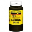 Nature's Blend Lysine 500mg Tablets- 100ct