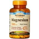 Sundown Naturals Magnesium 500mg Caplets- 100ct