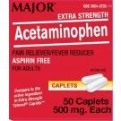 Major Extra Strength Acetaminophen 500 mg Caplets, 50 ct