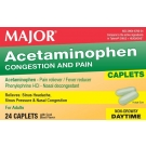 Major Acetaminophen Congestion and Pain Relief Caplets 24ct