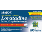 Major Loratadine 10mg Non-Drowsy Allergy Tablets 90